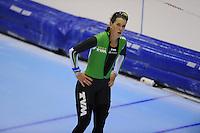 SCHAATSEN: HEERENVEEN: 05-10-2013, IJsstadion Thialf, Trainingwedstrijd, 500m, Ireen Wüst (40,17), ©foto Martin de Jong