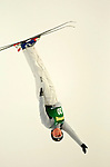 16 January 2005 - Lake Placid, New York, USA - Olga Koroleva representing Russia, competes in the FIS World Cup Ladies' Aerial acrobatic competition, ranking 15th for the day at the MacKenzie-Intervale Ski Jumping Complex, in Lake Placid, NY. ..Mandatory Credit: Ed Wolfstein Photo.