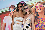 Victoria Secret Angel, Sports Illustrated Swimsuit Model and Actress Chanel Iman and Sunglass Spokes Model and Mick Jagger Daughter Georgia May Jagger at the Sunglass Hut Electric Summer Campaign Kick-Off Held at Industry Kitchen