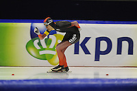 SCHAATSEN: HEERENVEEN; 11-10-2014, IJstadion Thialf, KNSB Trainingswedstrijd, Mats Stoltenborg, ©foto Martin de Jong