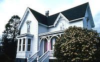 Ferndale CA:  Berding Cottage, c. 1880's. 455 Ocean Avenue. Victorian Gothic.   Photo '83.
