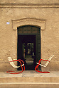 Chairs and doorway to home on Calle Centenario in Todos Santos; Baja California Sur, Mexico.