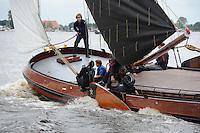 SKUTSJESILEN: GROU: SKS skûtsjesilen, Friese Sporten, 30-07-2011, Fryslân, Grouster skûtsje (It Doarp Grou), Steven Leenstra, ©foto Martin de Jong