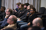 A full house listens as presenters speak at the 3 Minute Thesis Competition held at the Stocker Center on February 15, 2017.