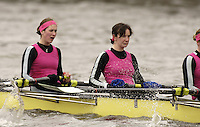 Chiswick, London. ENGLAND,11.03.2006, Cambridge University WBC, pass Chiswick Pier during the 2006 Women's Head of the River Race Mortlake to Putney  on Saturday 11th March    © Peter Spurrier/Intersport-images.com.. 2006 Women's Head of the River Race. Rowing Course: River Thames, Championship course, Putney to Mortlake 4.25 Miles