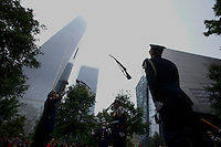New York, USA. 22nd May, 2014. Members of U.S. Coast Guard Silent Drill Team Performs at the national 9-11 memorial during the Fleet Week in New York.  Kena Betancur/VIEWpress