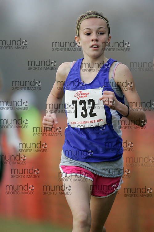 King City, Ontario ---09-11-15--- Lily Goguen of the South Simcoe Dufferin competes at the Athletics Ontario Cross Country Championships in King City, Ontario, November 16, 2009..GEOFF ROBINS Mundo Sport Images