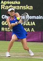 Agnieszka Radwanska - Poland..Tennis - OLympic Games -Olympic Tennis -  London 2012 -  Wimbledon - AELTC - The All England Club - London - Friday 29th June  2012. .© AMN Images, 30, Cleveland Street, London, W1T 4JD.Tel - +44 20 7907 6387.mfrey@advantagemedianet.com.www.amnimages.photoshelter.com.www.advantagemedianet.com.www.tennishead.net