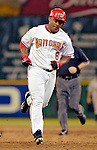 12 June 2006: Jose Guillen, outfielder for the Washington Nationals, trots toward third after hitting a solo home run in the 9th inning against the Colorado Rockies at RFK Stadium, in Washington, DC. The Nationals fell to the Rockies 4-3 in the first game of the four game series...Mandatory Photo Credit: Ed Wolfstein Photo..