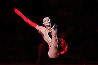 "Anna Bessonova of Ukraine performs gala exhibition at 2008 World Cup Kiev, ""Deriugina Cup"" in Kiev, Ukraine on March 23, 2008."