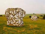 SATANIC GRAFFITI ON AVEBURY PREHISTORIC MONUMENT, WILTSHIRE, 1996