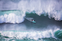 Big wave surfer, Morro Bay, California