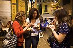 Pedra do Sal roda de samba night, in the port neighborhood of Rio de Janeiro, Brazil, on Monday, Nov. 4, 2013.