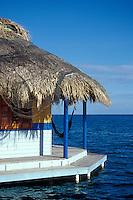 Guest cabin at Mango Creek Lodge on the Island of Roatan, Bay Islands, Honduras