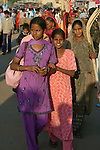 Crowds at a street market, Bundi, India