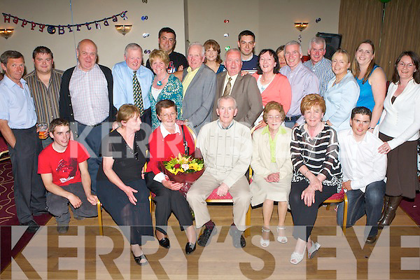 SURPRISE PARTY: Jack Lacey, Derrymore (seated centre), having a ball with family and friends at his surprise 60th birthday party held in the Kerins O'Rahillys GAA Clubhouse on Saturday night.   Copyright Kerry's Eye 2008