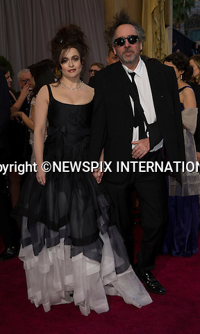 """HELENA BONHAM CARTER and TIM BURTON..Red Carpet arrival for the 85th Annual Academy Awards, Dolby Theatre, Hollywood, Los Angeles_23/02/2013.Mandatory Photo Credit: ©Dias/Newspix International..**ALL FEES PAYABLE TO: """"NEWSPIX INTERNATIONAL""""**..PHOTO CREDIT MANDATORY!!: NEWSPIX INTERNATIONAL(Failure to credit will incur a surcharge of 100% of reproduction fees)..IMMEDIATE CONFIRMATION OF USAGE REQUIRED:.Newspix International, 31 Chinnery Hill, Bishop's Stortford, ENGLAND CM23 3PS.Tel:+441279 324672  ; Fax: +441279656877.Mobile:  0777568 1153.e-mail: info@newspixinternational.co.uk"""