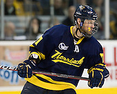Elliott Sheen (Merrimack - 11) - The Merrimack College Warriors defeated the University of New Hampshire Wildcats 4-1 in their Hockey East Semi-Final on Friday, March 18, 2011, at TD Garden in Boston, Massachusetts.