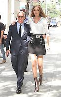 NEW YORK, NY - SEPTEMBER 9:  Gigi Hadid and Tommy Hilfiger seenin New York, New York on September 9, 2016.  Photo Credit: Rainmaker Photo/MediaPunch