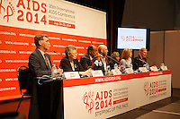 Speakers at the opening session of the 20th International AIDS Conference (AIDS 2014) hold a press conference at the Melbourne Convention and Exhibition Centre.<br /> For licensing of this image please go to http://demotix.com