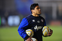 Ben Tapuai of Bath Rugby looks on during the pre-match warm-up. Aviva Premiership match, between Bath Rugby and Northampton Saints on February 10, 2017 at the Recreation Ground in Bath, England. Photo by: Patrick Khachfe / Onside Images