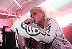 NEW YORK - JUNE 26:  Yo-Landi Visser of Die Antwoord performs onstage as part of VICE & Intel's The Creator Project at Milk Studios on June 26, 2010 in New York City.  (Photo by Roger Kisby)