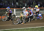 Heat 11 - Adams (tactical), Shields (red), Kling (blue), Chrzanowski (yellow) - Lakeside Hammers vs Swindon Robins - Sky Sports Elite League at Arena Essex, Purfleet - 17/08/07  - MANDATORY CREDIT: Gavin Ellis/TGSPHOTO - SELF-BILLING APPLIES WHERE APPROPRIATE. NO UNPAID USE. TEL: 0845 094 6026..