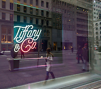 A window display at Tiffany & Co. in Midtown Manhattan in New York on Friday, January 22, 2016. Tiffany & Co. recently reported disappointing holiday sales citing a strong dollar and a reluctance of consumers to purchase luxury goods. (© Richard B. Levine)