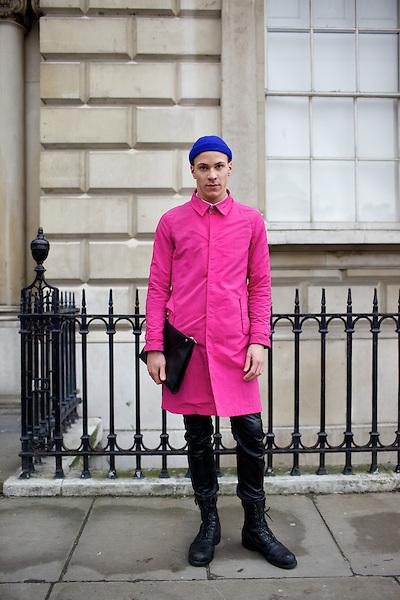 London Fashion Week Street Style February 2011 Somerset House London Marcus Dawes