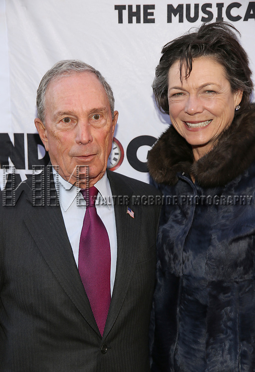 Michael Bloomberg and Diana Taylor attends the Broadway Opening Night performance of 'Groundhog Day' at the August Wilson Theatre on April 17, 2017 in New York City