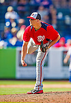 23 February 2013: Washington Nationals pitcher Cole Kimball on the mound during a Spring Training Game against the New York Mets at Tradition Field in Port St. Lucie, Florida. The Mets defeated the Nationals 5-3 in their Grapefruit League Opening Day game. Mandatory Credit: Ed Wolfstein Photo *** RAW (NEF) Image File Available ***