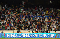 Fans take part in a wave. Italy defeated USA 3-1 during the FIFA Confederations Cup at Loftus Versfeld Stadium, in Tshwane/Pretoria South Africa on June 15, 2009.