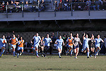 02 December 2012: UNC players race from the bench at the final whistle to celebrate the victory. The University of North Carolina Tar Heels played the Penn State University Nittany Lions at Torero Stadium in San Diego, California in the 2012 NCAA Division I Women's Soccer College Cup championship game. UNC won the game 4-1.
