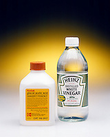 GLACIAL ACETIC ACID &amp; HOUSEHOLD WHITE VINEGAR<br /> Acetic acid is a familiar laboratory weak acid. It is also the active ingredient in vinegar.