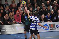 KORFBAL: GORREDIJK: Sport- en Ontspanningscentrum Kortezwaag, 27-11-2013, LDODK - AKC BLAUW WIT, Eindstand 25-28, Erwin Zwart (#   LDODK), ©foto Martin de Jong