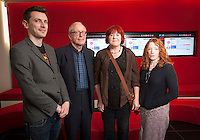 ***NO FEE PIC ***<br /> 05/06/2013 <br /> (L to R) Jury Member Nicky Phelan,  Jury Member John Kelleher Former Director IFCO, Director of No Enemies Trish McAdam who was nominated for her film &amp; Jury Member Kirsten Sheridan  during  the shortlist for the 5th annual Irish Council for Civil Liberties Human Rights Film awards at  the IFCO in Smith field, Dublin.<br /> Photo:  Gareth Chaney Collins