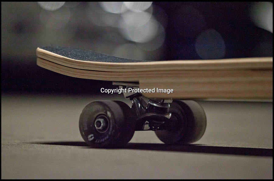 BNPS.co.uk (01202 558833)<br /> Pic: BriefSkate.com/BNPS<br /> <br /> ***Please use full byline***<br /> <br /> Inventor Alexei Novitzky is on a roll after coming up with a skateboard with a hidden compartment to hold essentials like keys and mobile phones.<br /> <br /> The storage section of the board is 18ins long by 7ins wide and is one inch deep, perfect for carrying day-to-day items while skating along a road.<br /> <br /> Even expensive or fragile belongings can be placed inside the box because they are protected by an insulating layer of foam.<br /> <br /> The skateboard looks normal until the grippy top surface is lifted up and the container is revealed, which is kept securely shut when in use by two metal catches.<br /> <br /> Alexei, 29, came up with the idea - called the BriefSkate - while he was skateboarding from class to class at university with a rucksack on his back.