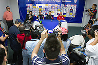United States Men's National Coach Jurgen Klinsmann and Landon Donovan address the media before the team's practice at Estadio Mateo Flores in Guatemala City, Guatemala on Mon. June 11, 2012.