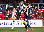 Ross County v St Johnstone&hellip;..30.04.16  Global Energy Stadium, Dingwall<br />Steven MacLean and Paul Quinn<br />Picture by Graeme Hart.<br />Copyright Perthshire Picture Agency<br />Tel: 01738 623350  Mobile: 07990 594431