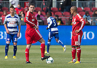 06 April 2013: Toronto FC midfielder Hogan Ephraim #31 and Toronto FC forward Robert Earnshaw #10 get ready for the start of an MLS game between FC Dallas and Toronto FC at BMO Field in Toronto, Ontario Canada..The game ended in a 2-2 draw..