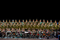 The Russian Army Choir ?Alexandrov Ensemble? perform during a concert given in Loket, Czech Republic, 14 June 2009. Alexandrov Ensemble (established in 1928) is the official army choir of the Russian armed forces (Red Army). The ensemble consists of a male choir, a music orchestra and a dance ensemble. The music repertoire of Alexandrov Ensemble range from traditional Russian balalaika tunes to church hymns, Italian opera arias and pop music songs.