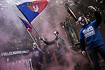 "Protest of the ""Bloc Idenditaire"" extreme right group against Francois Hollande election"