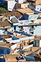 Children flying kites from the rooftops in a village in Rajasthan. (Photo by Matt Considine - Images of Asia Collection)