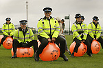 JAMES BOARDMAN / 07967642437 - 01444 412089 .Ello Ello, Police cadets take part in a World record Space Hopper race attempt in Hove on Bank Holiday Monday 28 May 2007... .