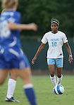 11 October 2007: North Carolina's Ariel Harris. The University of North Carolina Tar Heels defeated the Duke University Blue Devils 2-1 at Fetzer Field in Chapel Hill, North Carolina in an Atlantic Coast Conference NCAA Division I Women's Soccer game.