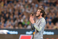 Melbourne, 24 July 2015 - Gareth Bale of Real Madrid reacts after missing a goal in game three of the International Champions Cup match between Manchester City and Real Madrid at the Melbourne Cricket Ground, Australia. Real Madrid def City 4-1. (Photo Sydney Low / AsteriskImages.com)