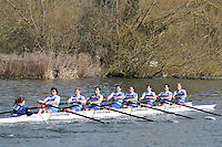 27 IM1.8+ Itchen Imperial RC..Reading University Boat Club Head of the River 2012. Eights only. 4.6Km downstream on the Thames form Dreadnaught Reach and Pipers Island, Reading. Saturday 25 February 2012.