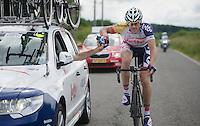 supplies for Adam Hansen (AUS)<br /> <br /> 2013 Ster ZLM Tour <br /> stage 4: Verviers - La Gileppe (186km)