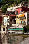 Sunshine on the colorful houses of Varenna, Italy on Lake Como