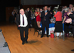 St Johnstone Hall of Fame Dinner, Perth Concert Hall...05.10.13<br /> Willie Coburn is applauded as he steps up to receive his award<br /> Picture by Graeme Hart.<br /> Copyright Perthshire Picture Agency<br /> Tel: 01738 623350  Mobile: 07990 594431